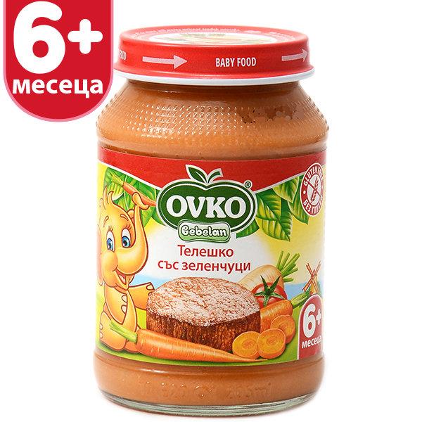 Овко Бебешко пюре /Меню Телешко със зеленчуци/ 6м. 190гр. 7141